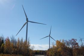 Wind turbines at Marble River in Clinton, NY