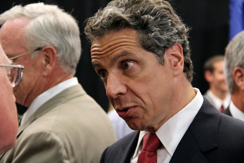 Gov. Andrew Cuomo's poll numbers have slid as his first term has hits some bumps.