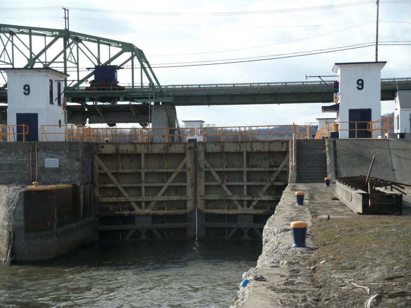 The Erie Canal's Lock 9 at Rotterdam Junction.