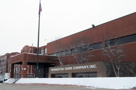 An outside view of Remington Arms, located in Ilion, NY.