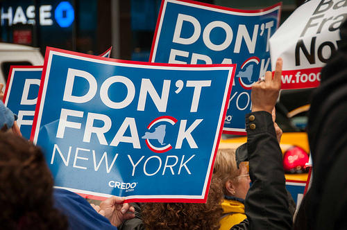 Anti-fracking protestors helped push Gov. Andrew Cuomo to decide to ban the drilling process in New York state two years ago.