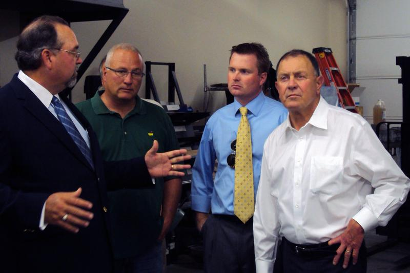 """Rep. Richard Hanna (R-Barneveld), right, is a member of the House """"drone caucus."""""""
