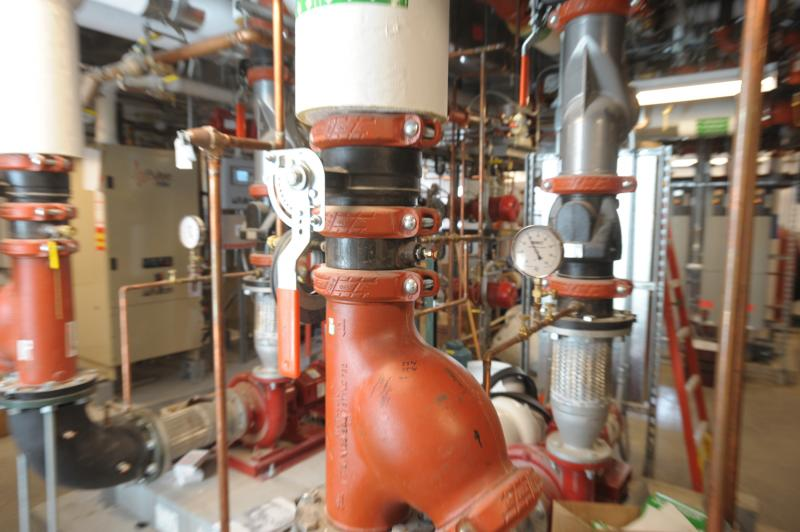 An energy-efficient heating and cooling system being tested at the Syracuse Center of Excellence.