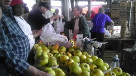 Apple stalls at the Rochester Public Market