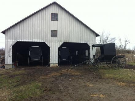 A garage on an Amish farm in northern New York.