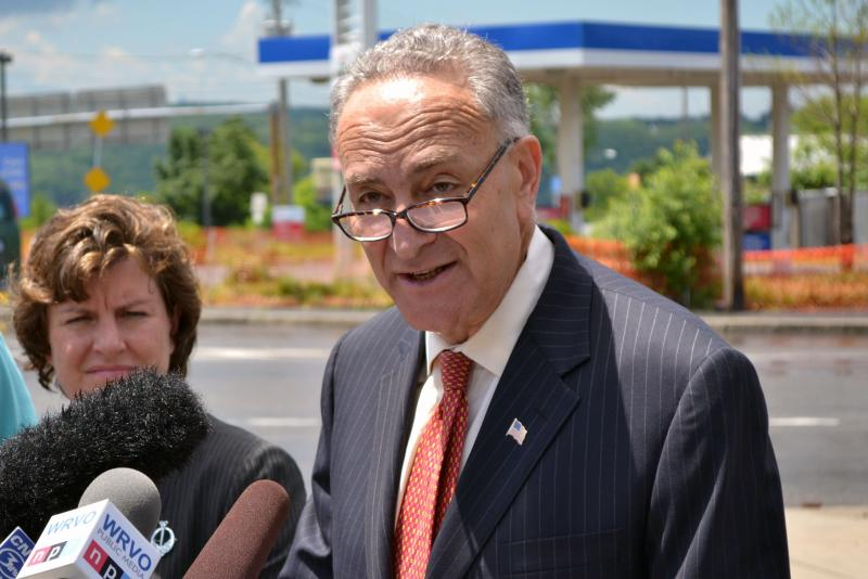 Sen. Charles Schumer discussed a proposed Canadian retiree visa while in Syracuse on Monday.