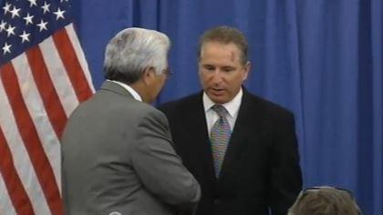 Seneca president Barry Snyder and Cuomo's director of operations, Howard Glaser