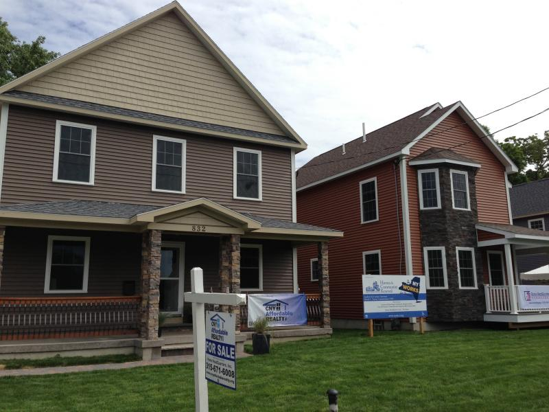 New homes have been built on Syracuse's Westside, selling for about $90,000 each.