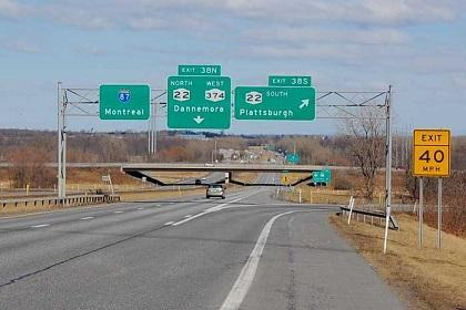 Plattsburgh, N.Y. is just over an hour's drive from Montreal.