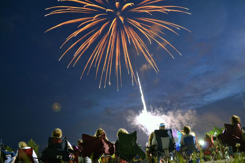 The fireworks display at Emerson Park in Auburn, N.Y. on July 3.