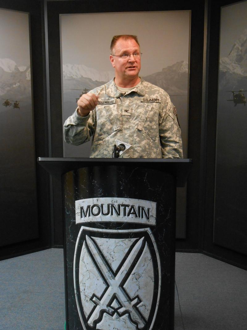 Fort Drum Garrison Commander Colonel Gary Rosenberg said soldiers and their family members, the post's civilian workforce, and and the community surrounding Fort Drum all will feel the effects of mandatory employee furloughs over the next 11 weeks.