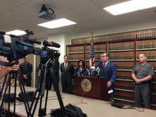 Onondaga County District Attorney William Fitzpatrick addressing the media after Renz pleaded guilty to first degree murder and predatory sexual assault charges in Onondaga County Court this morning.