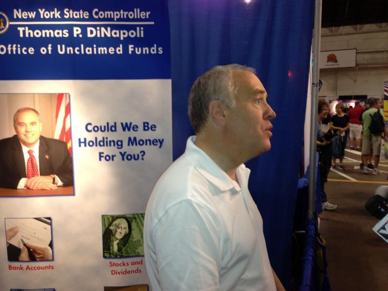New York State Comptroller was at the New York State Fair Monday to distribute unclaimed funds.