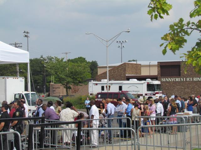 Plenty have been waiting for the president to arrive in long lines at Henninger High School.