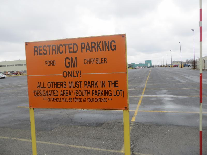 "Foreign cars are required to park in a separate ""designated area."""