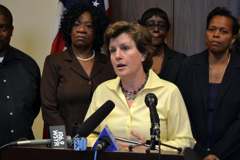"Syracuse Mayor Stephanie Miner called corner stores with multiple code violations a ""scourge"" on city neighborhoods."