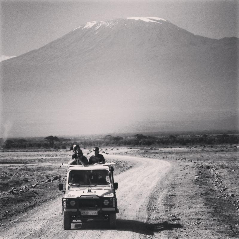 Mt. Kilimanjaro, Africa's tallest peak, as seen from Amboseli National Park in southern Kenya in 2009.