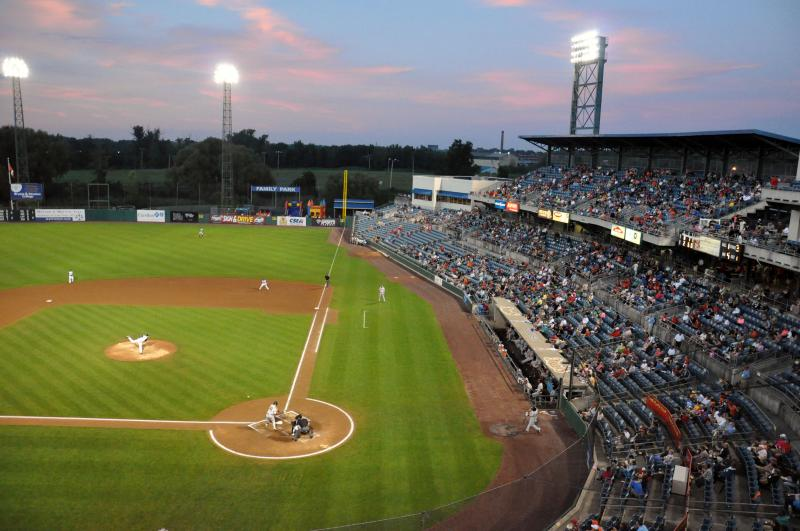A Friday night game against the Pawtucket Red Sox at NBT Bank Stadium. The Chiefs announced a crowd of 10,842, but that's based on tickets distributed, not turnstile numbers.