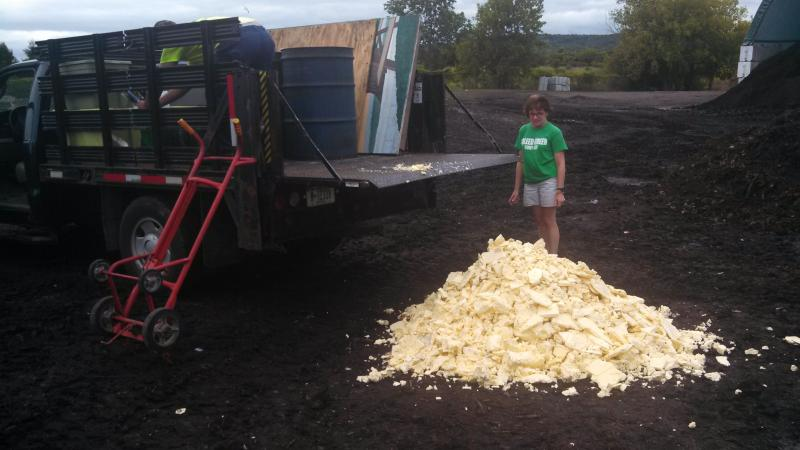 Butter from the NY State Fair sculpture has ended up at  an OCRRA composting site.