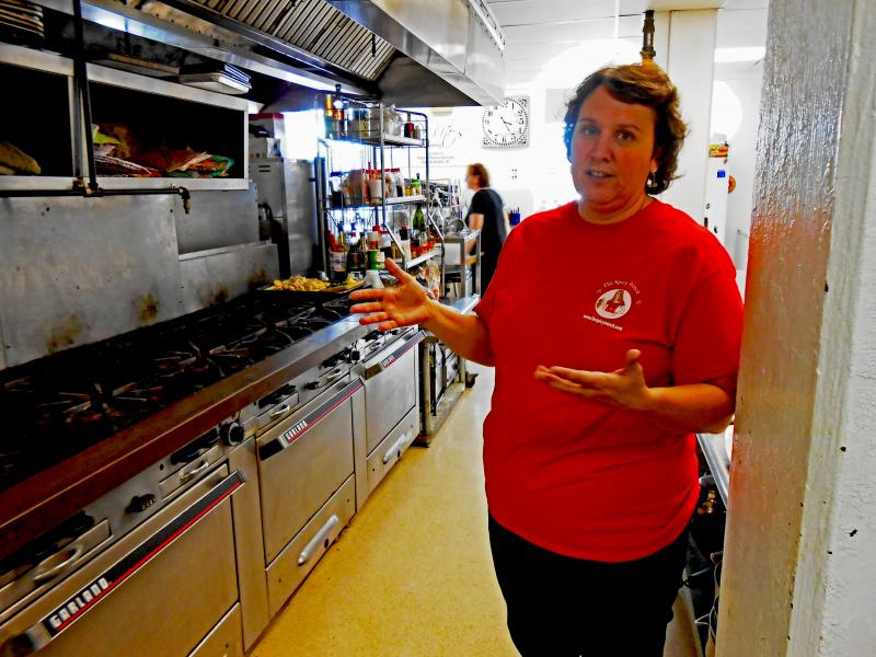 Christine Hoffman has just moved her jam and jelly business, The Spicy Wench, into the new shared-use commercial kitchen in Sackets Harbor.