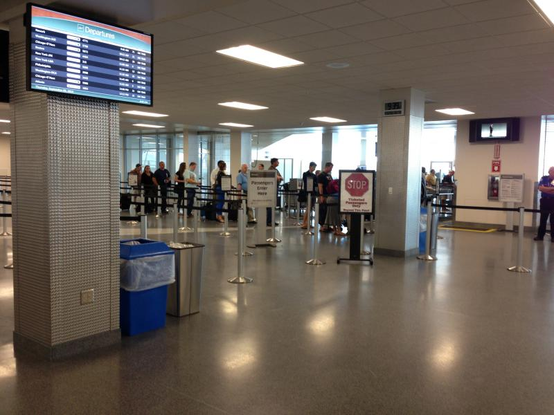 A view of Syracuse's Hancock International Airport, which was recently selected for the TSA's new PreCheck program.