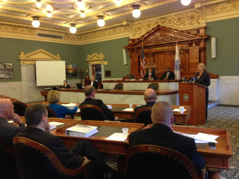 Onondaga County Executive Joanie Mahoney presents her 2014 budget to the Onondaga County Legislature.