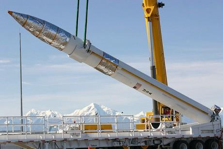 A missile interceptor site in Alaska.