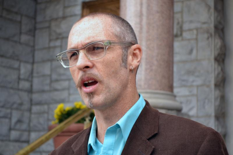 Kevin Bott, the Green Party candidate for Syracuse mayor, says a scaled local income tax would not be a burden.