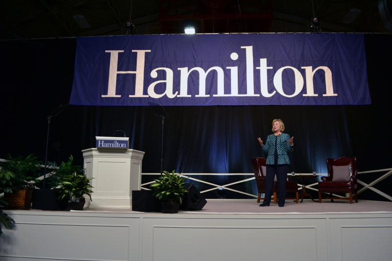 Hillary Clinton spoke to more than 6,000 people at Hamilton College Friday night.