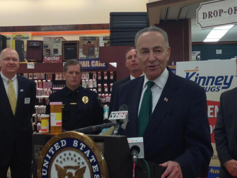 Sen. Charles Schumer is urging the DEA to loosen restrictions for drug take back programs. He is also asking the agency to allow funding for a drug buy back program.