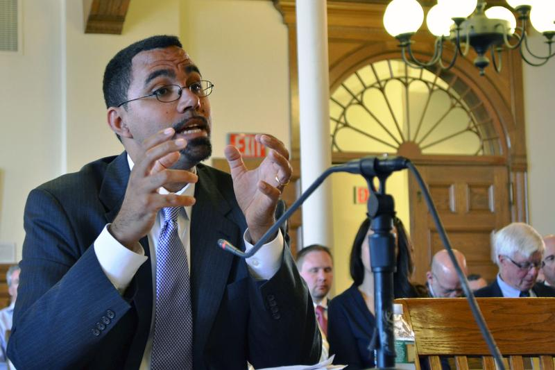 New York State Education Commissioner John King testifies to a state Senate committee in Syracuse Tuesday.