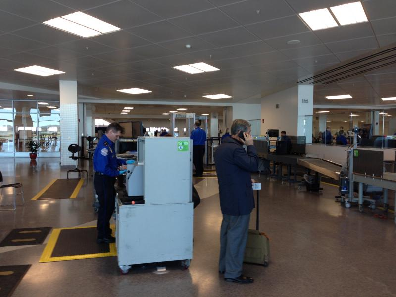 A view of the new TSA PreCheck program at Syracuse's Hancock International Airport.