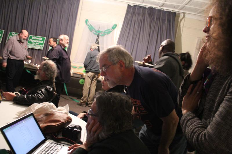The Green Party candidates await the results of Tuesday's election. All three candidates fell short in their election bids.