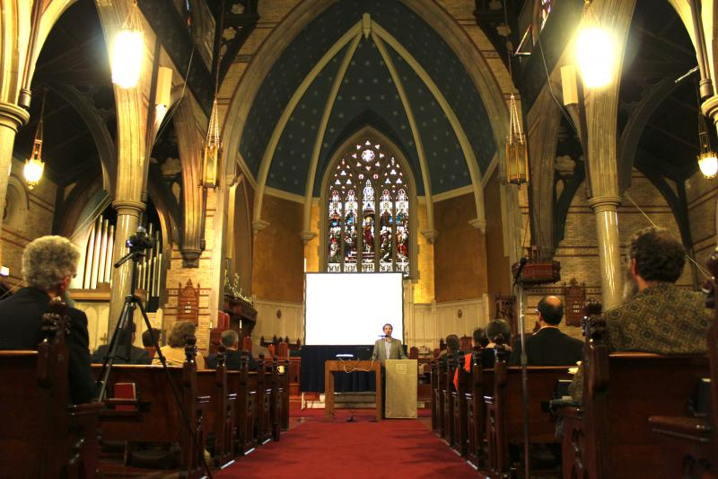 The Preservation Association of Central New York held the Sacred Places Symposium this past Saturday at St Paul's Episcopal Cathedral in downtown Syracuse.