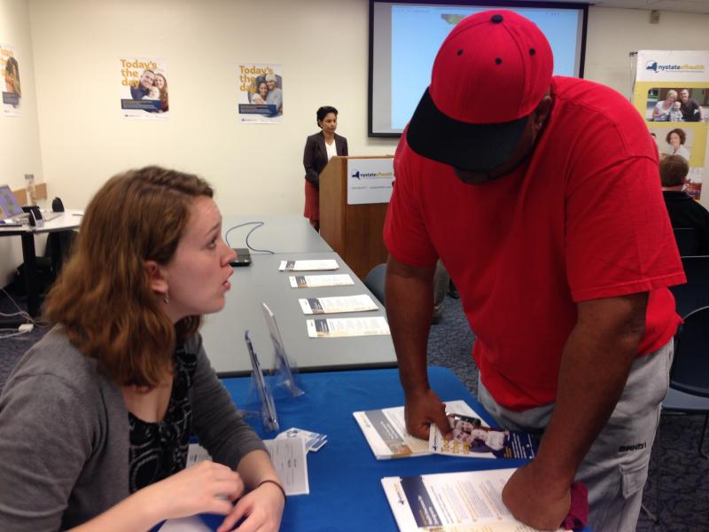 Navigators have been educating people about what health care coverage plans are available through the New York State of Health. (File photo)