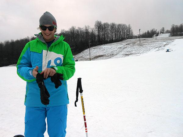 Chance Gerken was out enjoying the slopes at Dry Hill Ski Area in Watertown.