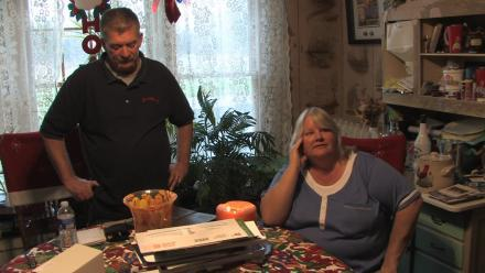 Former Goodyear workers Diane and Harry Weist at home in western New York