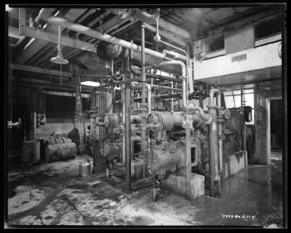 Chemical reactors in the Goodyear Chemical Factory Interior, pre-1951.