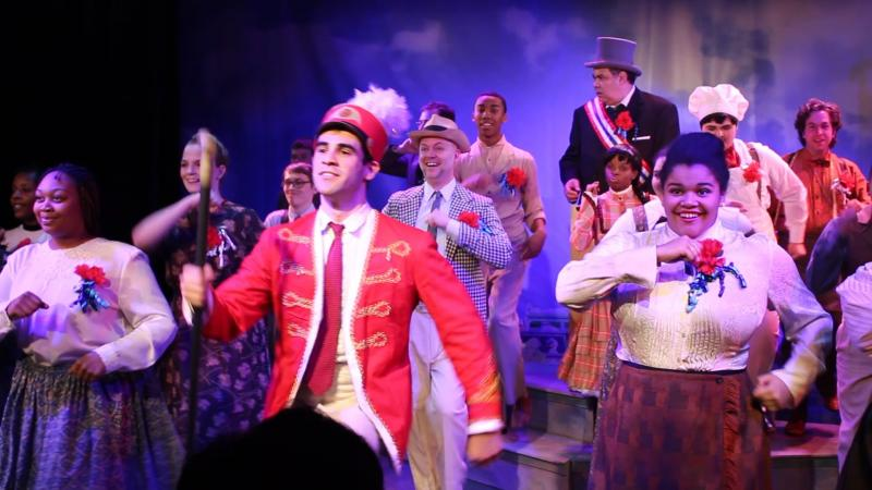 "Josh Rodriguez leads the cast of ""The Music Man"" at Redhouse."
