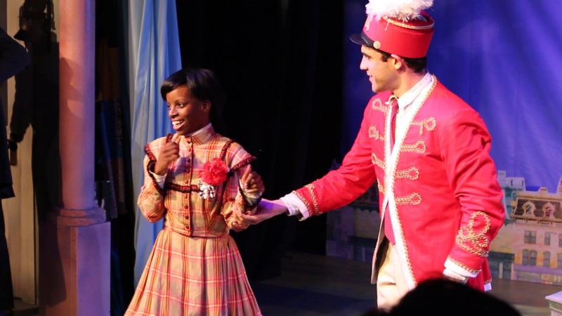 "Tajane Lane plays Zaneeta Shinn alongside Josh Rodriguez in ""The Music Man"""