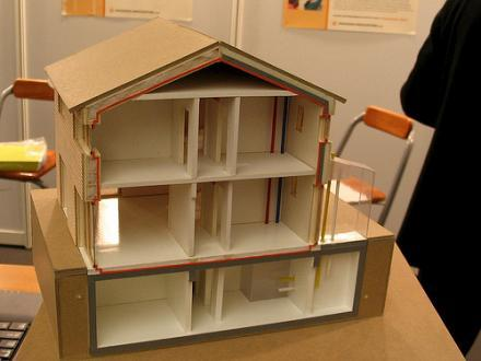 Model of a passive house.
