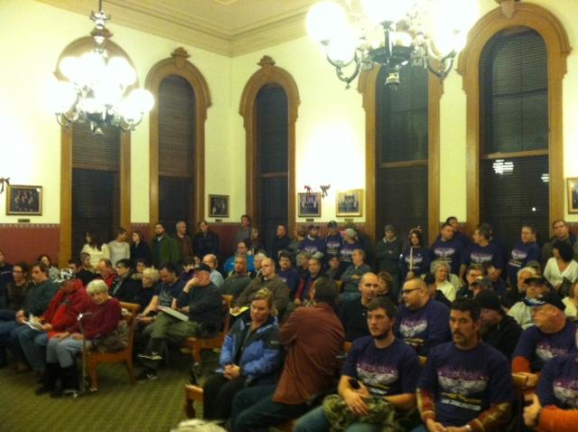 More than 100 people attended last night's budget vote.