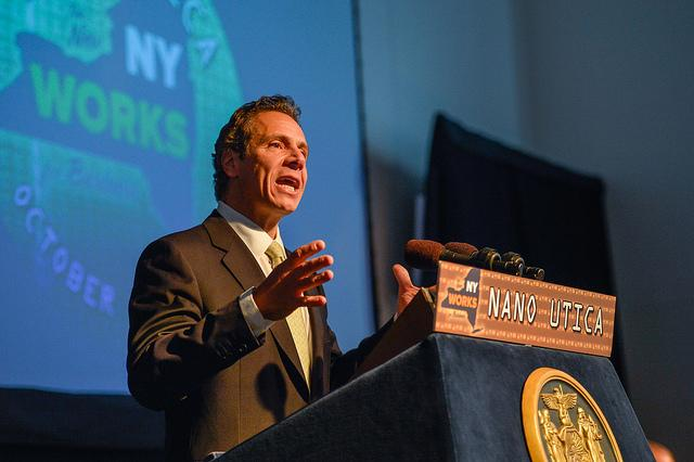 Gov. Andrew Cuomo speaks during the announcement of a $1.5 billion investment into Nano Utica in mid-October.