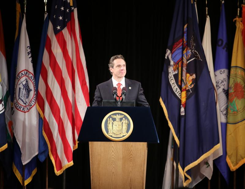 Gov. Andrew Cuomo during the State of the State address on Jan. 8.
