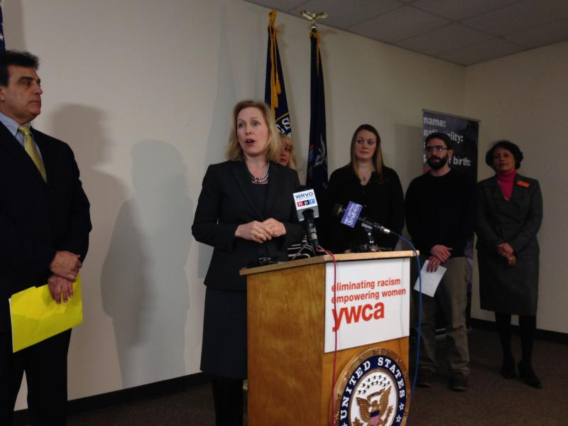 Sen. Kirsten Gillibrand (D-NY) announces her family leave proposal in Utica