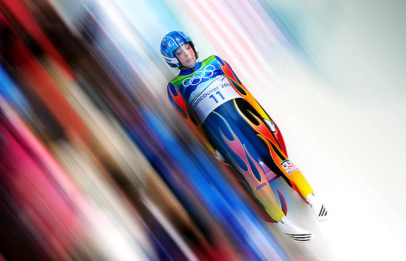 Erin Hamlin of Remsen, N.Y. competing in the luge in 2010.