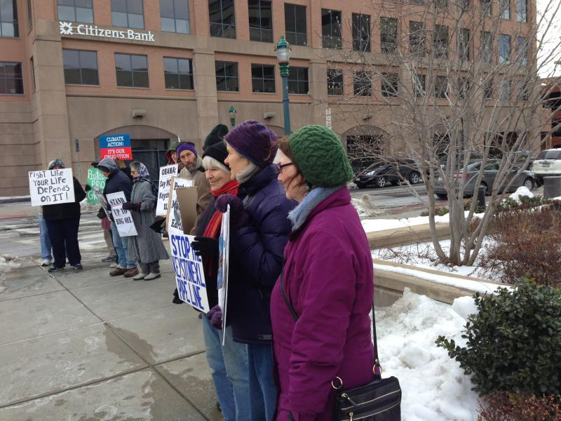 Syracuse Keystone XL protestors called on President Obama to stop the pipeline's production