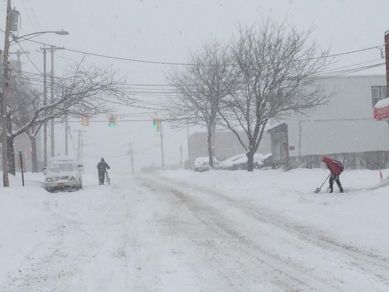 East Fayette St. during a recent snow storm.