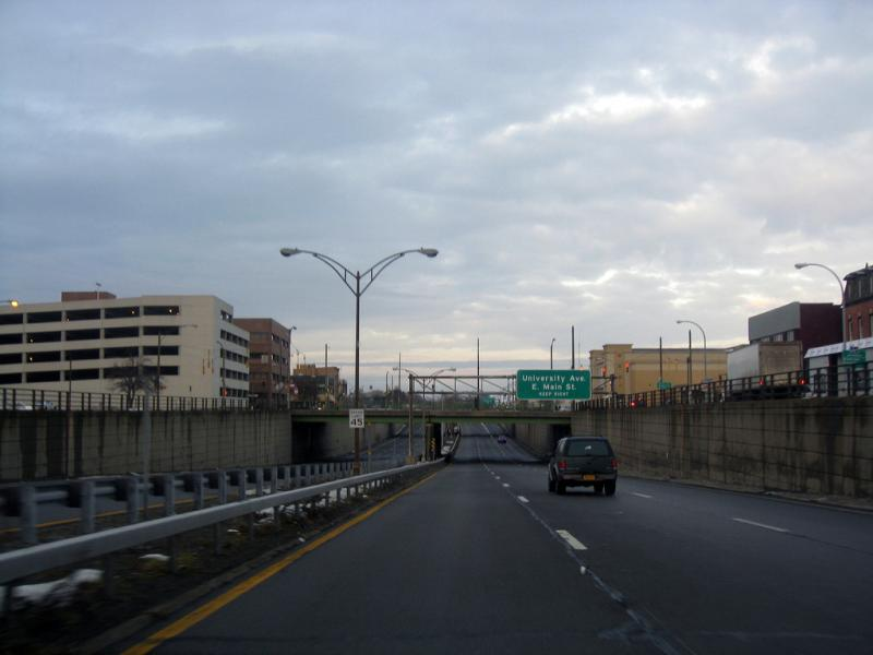 Rochester's Inner Loop, a depressed freeway encircling downtown.