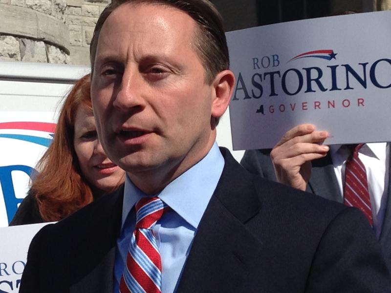 Westchester County Executive Rob Astorino (R) visits Syracuse as part of his new campaign for governor.